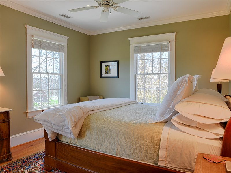 Comfortable bedroom in a Virginia Farmhouse for Sale