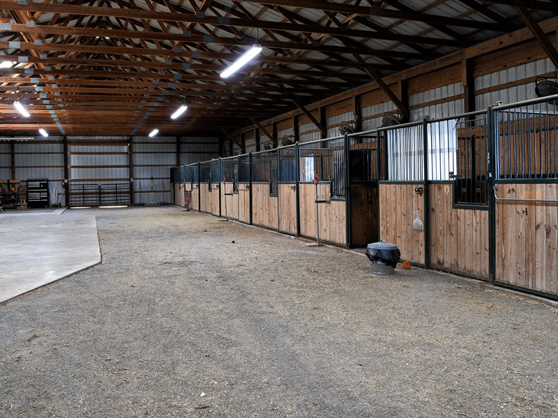 Horse Stable at Red Horse Farm