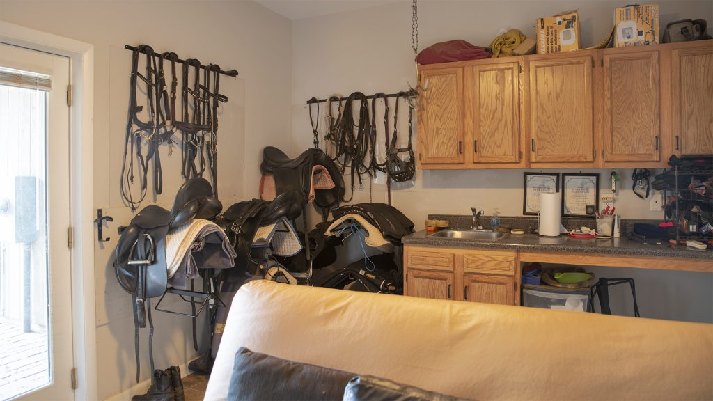 Tack Room at VA Horse Farm for Sale