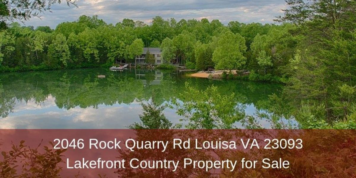 2046 Rock Quarry Rd Louisa VA 23093 | Lakefront Country Property for Sale